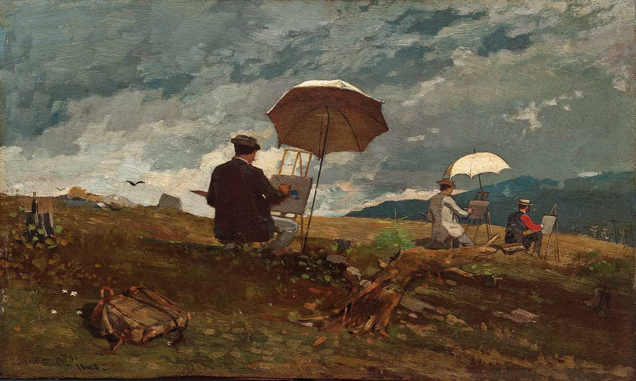Artists Sketching in the White Mountains, by Winslow Homer, 1868 (public domain)